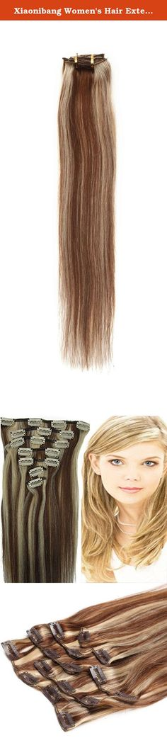 Xiaonibang Women's Hair Extensions Clip in Remy Human Hair 7pcs 4sizes More Colors (18 Inches Long, 4/613). Clips in human Hair Extensions Long soft Silky straight 100% human hair extension. Specification Length:15-24 Inches Availble Color more 23 Colors for choose Weight :Different size different weight ,15inch 70g with clips,18inch 70g with clips,20inch 70g with clips,22inch 80g with clips,24inch 100g with clips Texture: Straight Hair type : 100% human hair High quality, tangle…