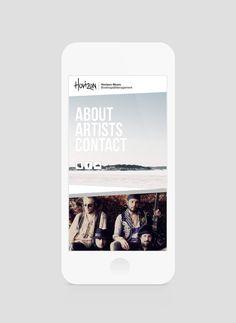 Horizon Music website design by Benvisual Polaroid Film, Website, Music, Artist, Design, Musica, Musik, Muziek, Music Activities
