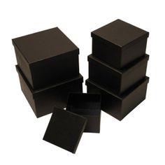 black nesting boxes