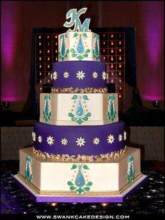 Wedding Cake Bakery North Carolina Raleigh Cary Durham Triangle Purple Wedding Cakes, Lilac Wedding, Pretty Cakes, Beautiful Cakes, Cupcake Cookies, Cupcakes, Color Cake, Indian Cake, Wedding Cake Bakery