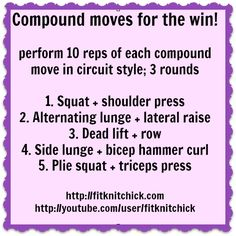 #FatblasterFriday compound moves workout