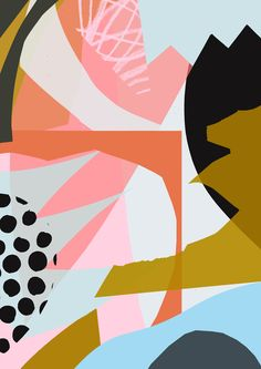 'Bits And Pieces' www.tomabbisssmithart.com #abstract #contemporary #collage #pattern #design #illustration