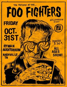 This would  have been such fun...Foo Fighters Halloween Night — Nashville, TN