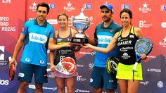 Ganadores #WptLasRozasOpen #Pádel #PádelProfesional. Fernando Belasteguin, Pablo Lima, Alejandra Salazar y Marta Marrero.