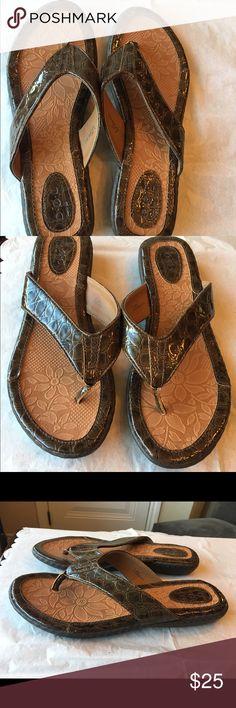NWOB, BOC Zita Sandals Brown Animal Print, Size 9 NWOB, BOC Zita Sandals Brown Animal Print, Size 9, new, never worn BOC Shoes Sandals
