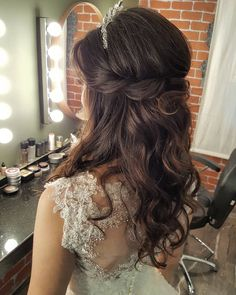 Winter Hairstyles, Formal Hairstyles, Quince Hairstyles, Ponytail Hairstyles, Bride Hairstyles, Cool Hairstyles, Make Up Braut, Hair Wedding, Prom Hair