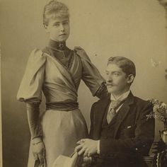 Princess Marie of Edinburgh and fiance, Crownprince Ferdinand of Romania. Queen Victoria Family, Victoria Reign, Princess Victoria, Royal Prince, Prince And Princess, Queen Mary, King Queen, Maud Of Wales, Romanian Royal Family