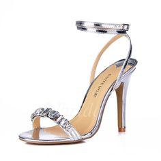 chaussures talons mariage · Sandales -  53.76 - Similicuir Talon stiletto  Sandales Escarpins avec Strass chaussures (0875100828) Sandale 1ecb2c9d79cf