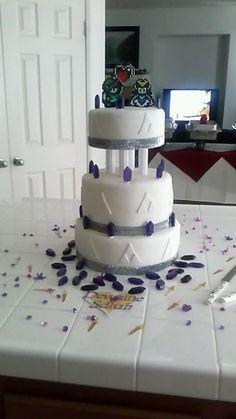 My sister's Zelda themed wedding cake :)