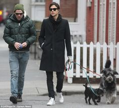 Getting serious? Zachary Quinto took his rumoured boyfriend Miles McMillan for a romantic stroll with his two pet dogs in New York's Washington Square Park on Monday