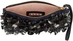 Embellished Fur Woodruff Clutch