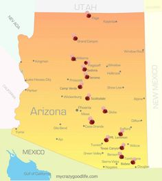 Arizona Road Trip: 15 places you must see in AZ! Arizona Road Trip: 15 places you must see in AZ! Arizona Road Trip, Arizona Travel, Road Trip Usa, Usa Trip, Visit Arizona, Sedona Arizona, Phoenix Arizona Map, Pheonix Arizona, The Wave Arizona