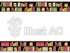 本棚イラスト 無料イラストなら イラストac フレーム イラスト 本棚 イラスト 年賀状 背景