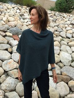 Ravelry: Brgdvm's BeeRita's Seed Edge Folded Poncho