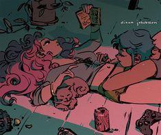 Cute Lesbian Couples, Lesbian Art, Gay Art, Arte Dope, Gay Aesthetic, Online Comics, Queer Art, Pretty Art, Cartoon Art