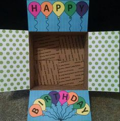 Care Package Box Kit Happy Birthday by BekProductions on Etsy