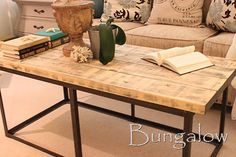 DIY Furniture Store KnockOffs - Do It Yourself Furniture Projects Inspired by Pottery Barn, Restoration Hardware, West Elm. Tutorials and Step by Step Instructions  |   Restoration Hardware coffee table DIY Knockoff  |   http://diyjoy.com/diy-furniture-store-knockoffs
