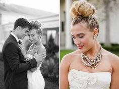 Wedding Hairstyles: Bridal Buns - Photography by Jasmine Star