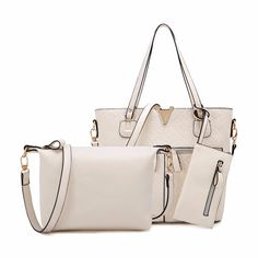 Trendy White Bags (3pc-set), 49% discount @ PatPat Mom Baby Shopping App
