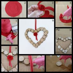DIY valentijns krans (+foto werkbeschrijving)