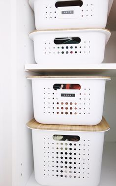 White SmartStore™ Baskets