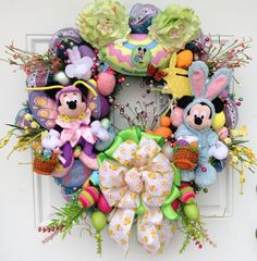 Mickey Mouse Easter Wreath by SparkleForYourCastle on Etsy, $189.00
