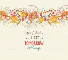 День благодарения. Фон Осенние листья стилизованные для поздравительных открыток royalty-free stock vector art