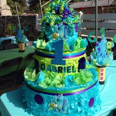 Decorations at a Monster Party #monster #party