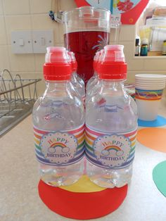 The Printerbelle labels looked great on these water bottles.