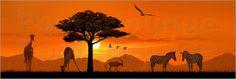 "Poster: ""Romantisches Afrika"" - Romantic Wall Art by Mausopardia - Romantische Wandbilder von Mausopardia bei Posterlounge!"