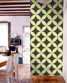 Removable selfadhesive modern vinyl Wallpaper by PatPrintbyAmy