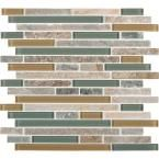 Golden Harvest Interlocking 12 in. x 12 in. Glass/Stone Mesh-Mounted Mosaic Wall Tile