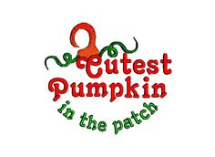 Cutest Pumpkin Embroidery Designs Set of 3  by BroderieCreative