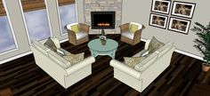 Furniture Placement With Corner Fireplace  Ideas Corner Fireplace Layout | Living Room Layout | Pinterest