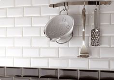 Black and White brick tiles