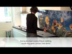 PimpYourKitchen.nl: bevestigen keukenachterwand /spatwand