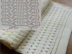 Puntada para cobija a crochet                                                                                                                                                      Más