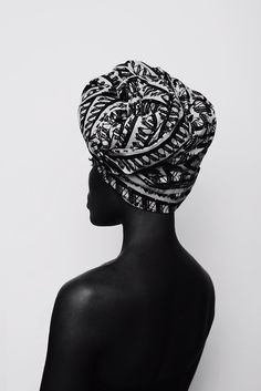 EasyFashion - Black and White Fotos - Head Wraps African Beauty, African Women, African Style, Black Girl Magic, Black Girls, Black Women, Moda Afro, Ethno Style, Foto Art