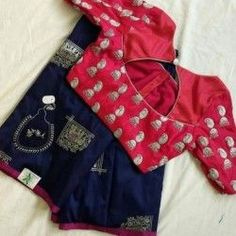 designer saree blouse patterns Latest designer ready made blouse design The handmade craft Brocade Blouse Designs, Kids Blouse Designs, Simple Blouse Designs, Saree Blouse Neck Designs, Stylish Blouse Design, Designer Blouse Patterns, Patch Work Blouse Designs, New Dress Design, Latest Blouse Designs