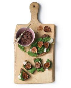 An inventive alternative to peanut butter and jelly: Open-Faced Fig Sandwiches with Arugula and Parmesan, Wholeliving.com