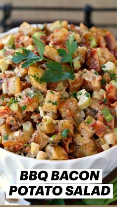 Bacon Potato, Bbq Bacon, Summer Side Dishes, Easy Side Dishes, Cooking Recipes, Healthy Recipes, Ham Recipes, Pasta Recipes, Soup And Salad