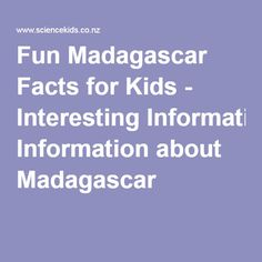Fun Madagascar Facts for Kids - Interesting Information about Madagascar