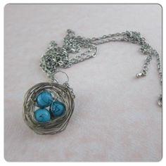 DIY Wire Necklace  : DIY Birds Nest Necklace DIY Jewelry DIY Necklace