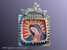 NICHO VIRGEN GUADALUPE  ©2008 Lorena Angulo  Pure Silver, photo and resin