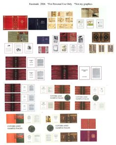 Books 4 - Website devoted to 1/12th scale miniature dollhouse printables (printies)!