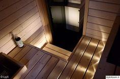 sauna,saunan valaistus,saunan lauteet