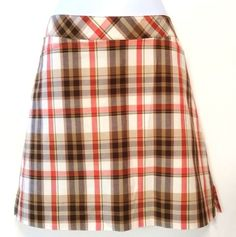 Lady Hagen Plaid Skort-Golf-Size 8 New With Tags Brown/Orange/White #LadyHagen #SkirtsSkortsDresses http://www.ebay.com/itm/-/381273753888?