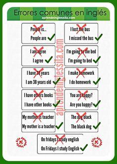 Errores comunes del inglés