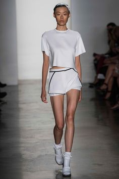 3 Looks: my #NYFW picks from Louise Goldin. Tennis whites and music festivals provide inspiration for this clean but clever collection.