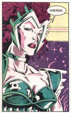 Boodika member of the Green Lantern Corps --- artwork by Kirk Van Wormer & Ande Parks/Rich Faber --- panel extract from Green Lantern Corps Quarterly (DC Comics Green Lanterns, Green Lantern Corps, Dc Universe, Dc Comics, Parks, Van, Artwork, Anime, Character